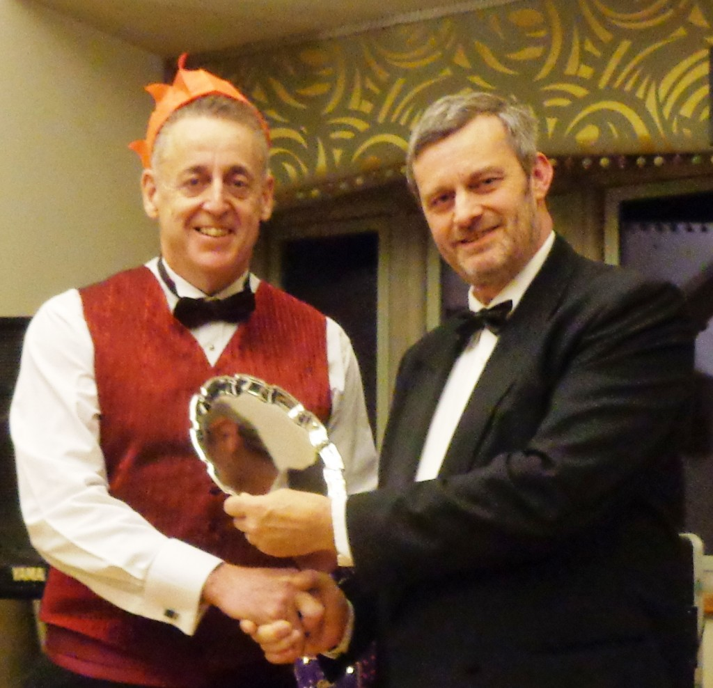 The Bernard Carter Silver Plate – for outstanding service to the Club was presented to Gerry Frobisher (on right) for safety boat duties presented by Glenn Williams Club Vice President